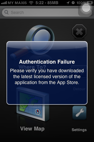 Error Authenticate